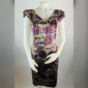 Antonio Melani Floral Satin Dress